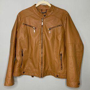 J2 Jou Jou Faux Leather Moto Jacket